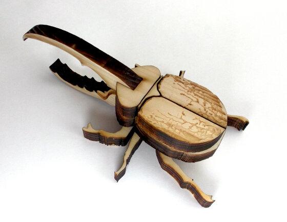 かんたん木工作キット クイック・クラフトン 第1弾 昆虫 No.3 ヘラクレスオオカブト